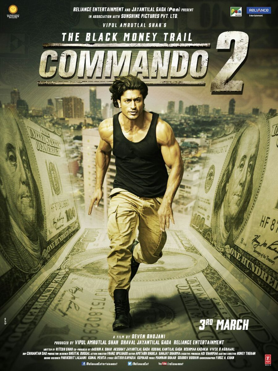 Commando 2 Movie Poster Ft - Commando 2 Full Movie Download , HD Wallpaper & Backgrounds