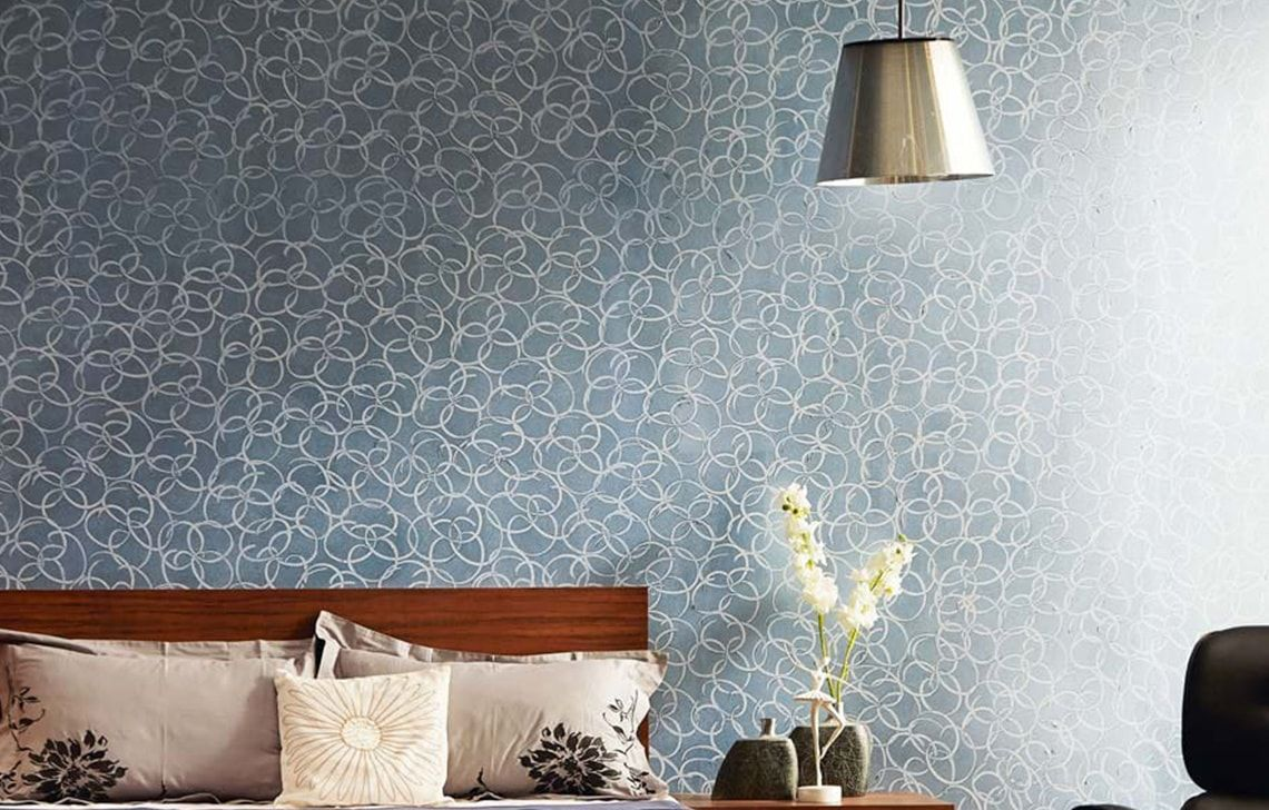 Wallpaper And Paint Combination Ideas - Wall Ki Design Royal Play , HD Wallpaper & Backgrounds