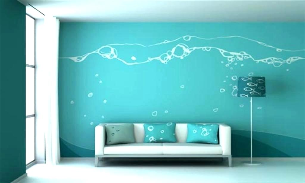 Wall Designs For Living Room Asian Paints Romantic - Blue Wall Paints For Living Room , HD Wallpaper & Backgrounds
