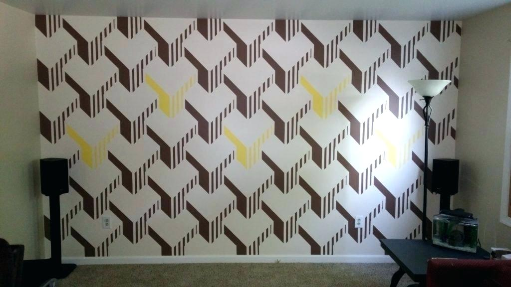 Wall Paint Design Exquisite Wall Paint Designs I Painted - 3d Wall Color Dizain , HD Wallpaper & Backgrounds