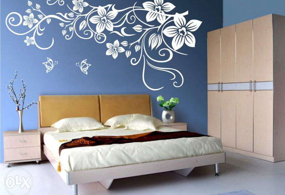 Wall Painting On Blue Wall 648606 Hd Wallpaper