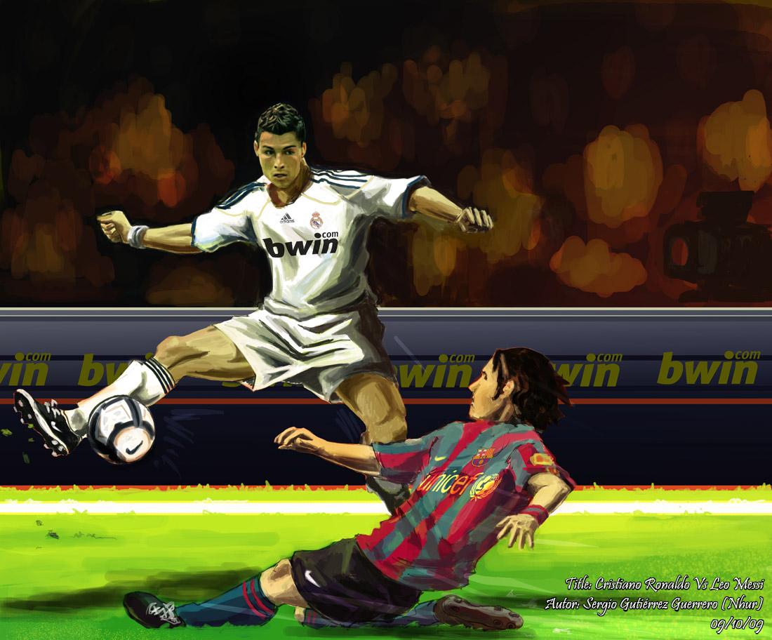 Messi Vs Cristiano Ronaldo 1440x810 Wallpaper Cristiano - Messi Vs Ronaldo Come , HD Wallpaper & Backgrounds