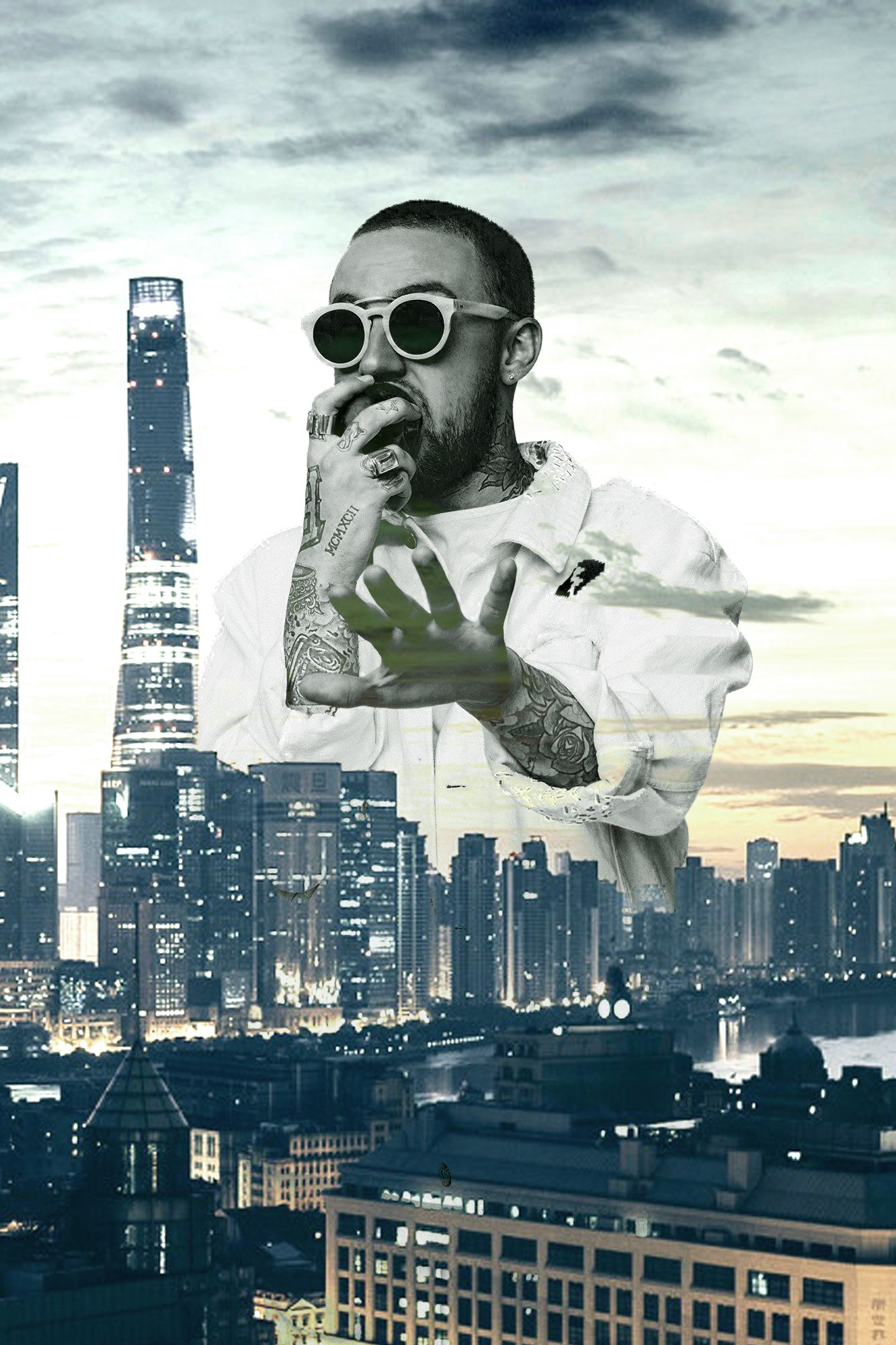 Mac Miller Wallpaper Shanghai Skyline 650873 Hd