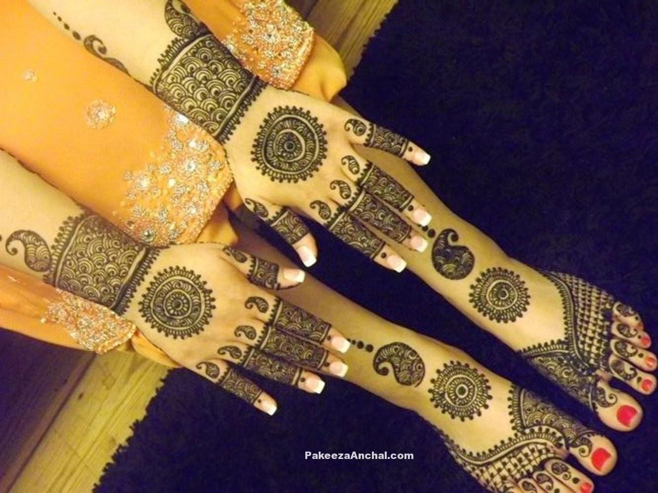 Mehendi Designs For Bride, Top Bridal Mehendi Design - Motif , HD Wallpaper & Backgrounds