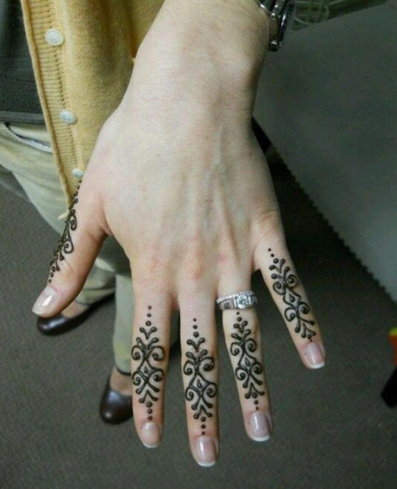 Easy Fingers Mehndi Designs , Finger Simple Mehndi Design