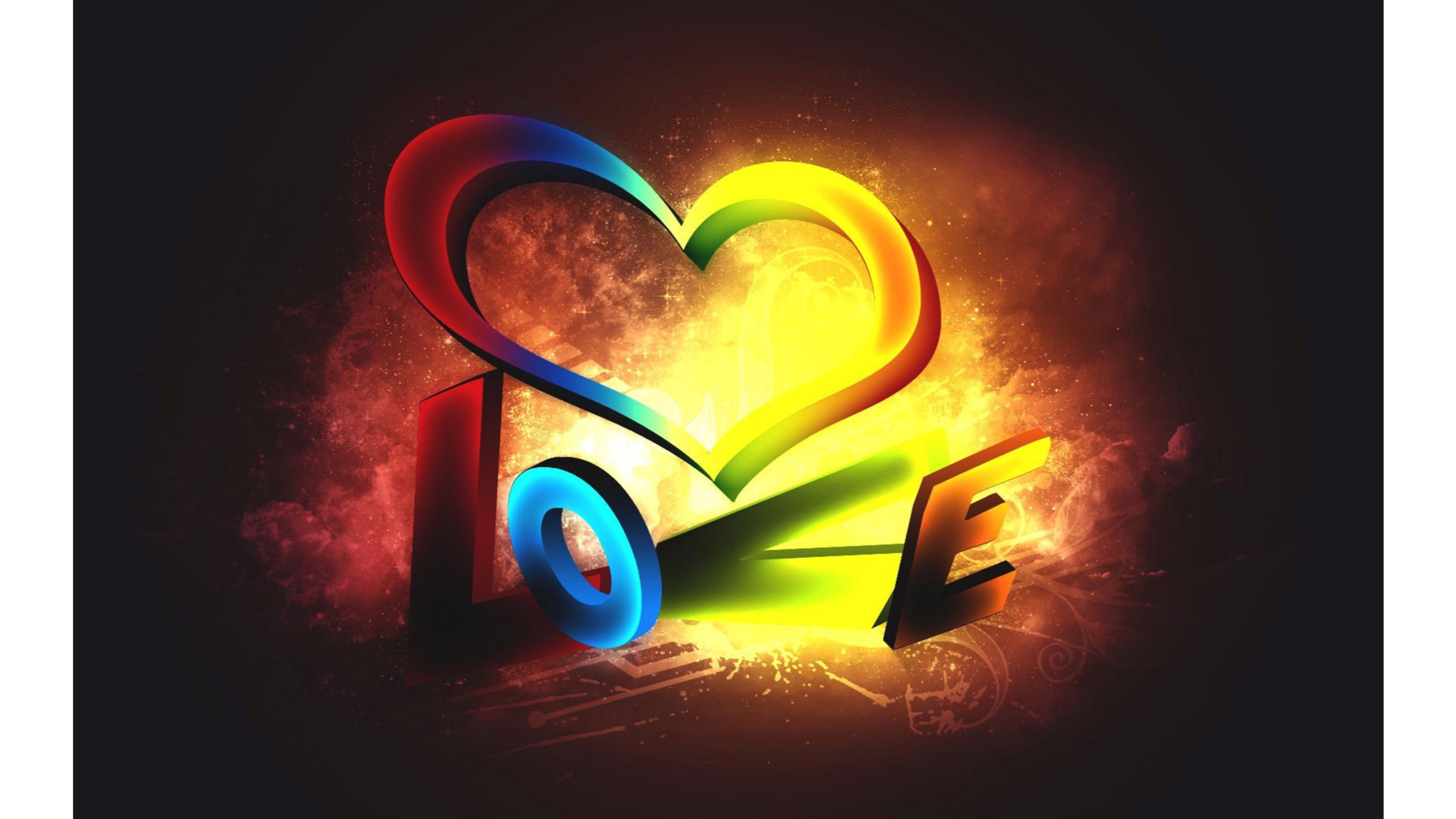 Rainbow Heart 4k Love Wallpaper Love Hd Wallpapers Download