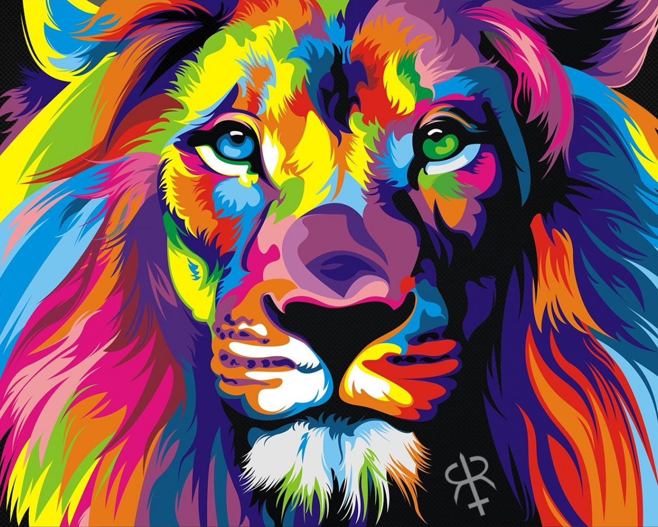 Rainbow Lion , HD Wallpaper & Backgrounds