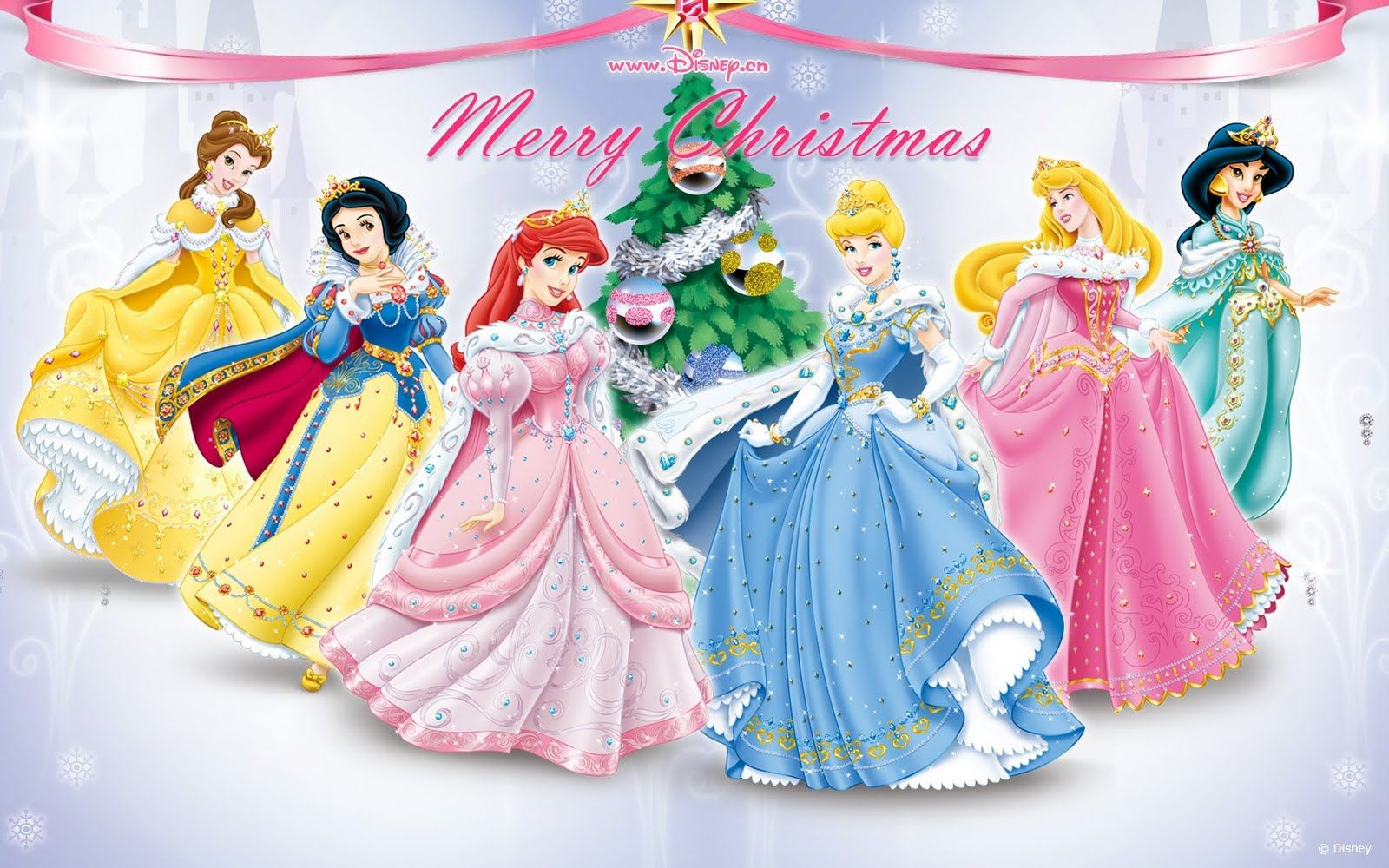 Princesas Disney Navidad Merry Christmas Disney Princess