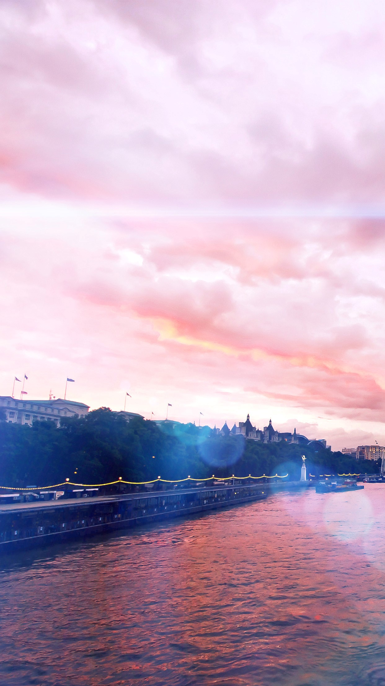 Azul Flare Arco Iris River City Flags Sunset Android Rose Gold
