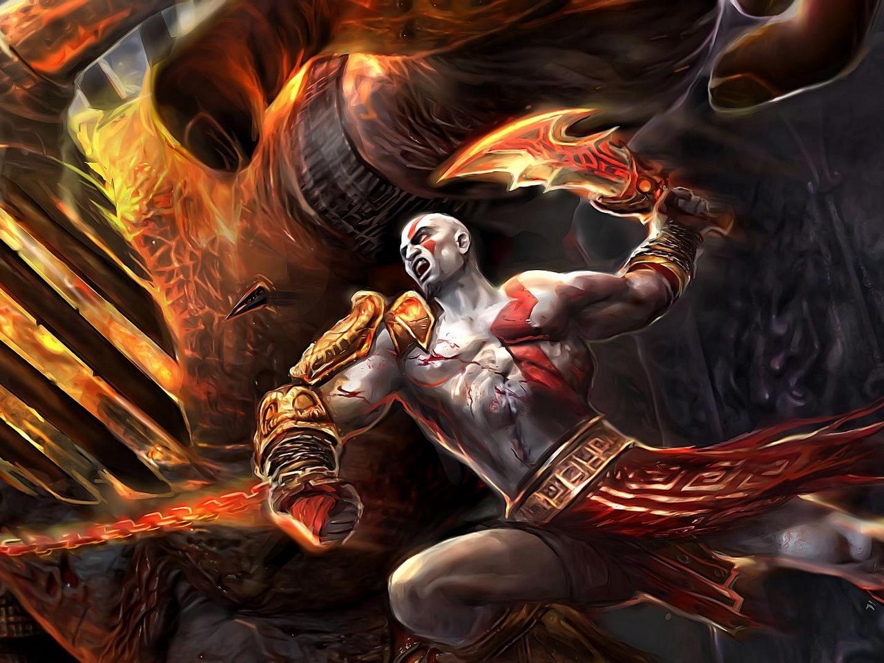 Wallpaper Kratos God Of War 3 Blade Of Shaos God Of War