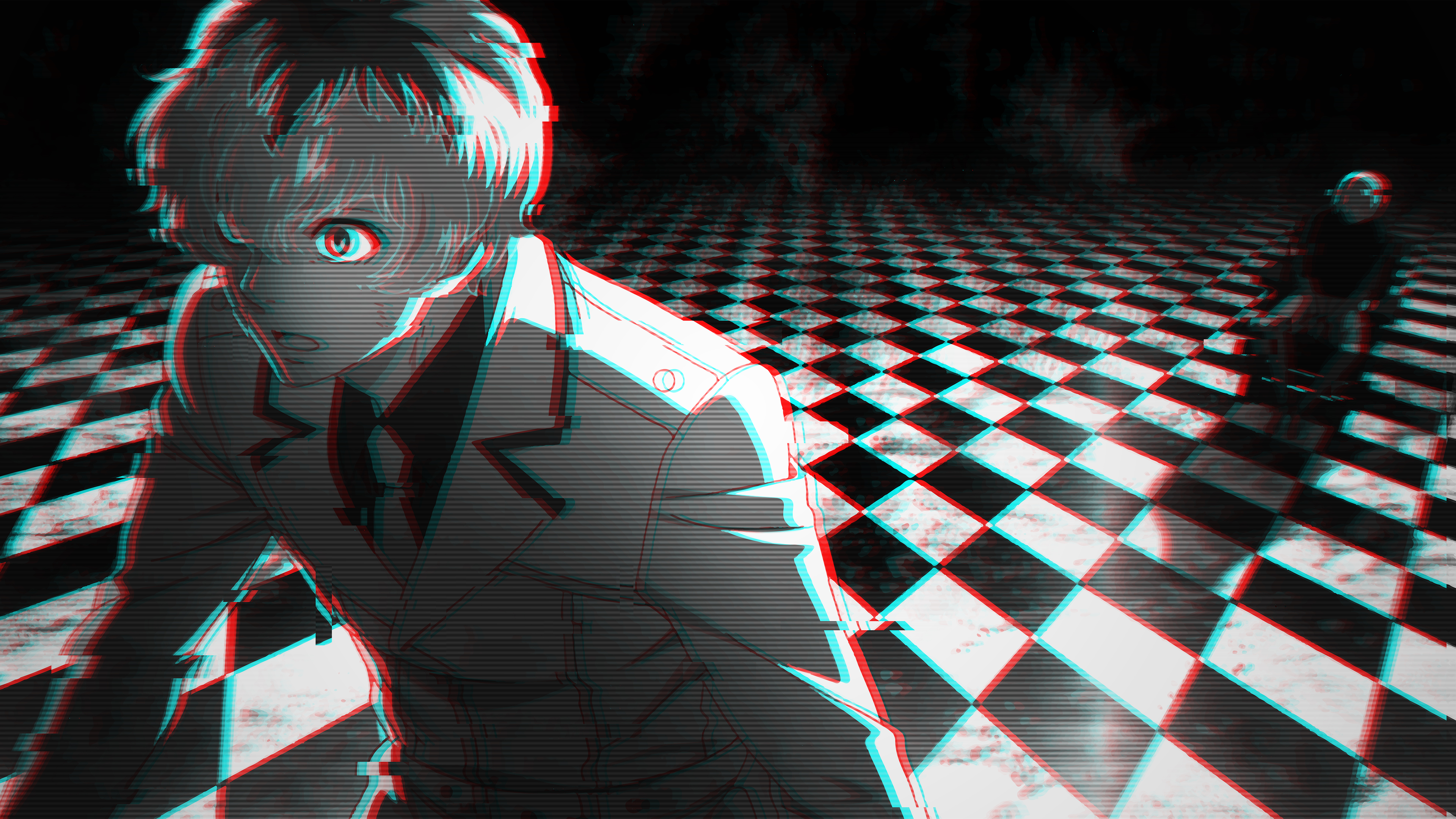 Haise Sasaki Glitch Desktop 4k Uhd Wallpaper - Tokyo Ghoul Re 4k , HD Wallpaper & Backgrounds
