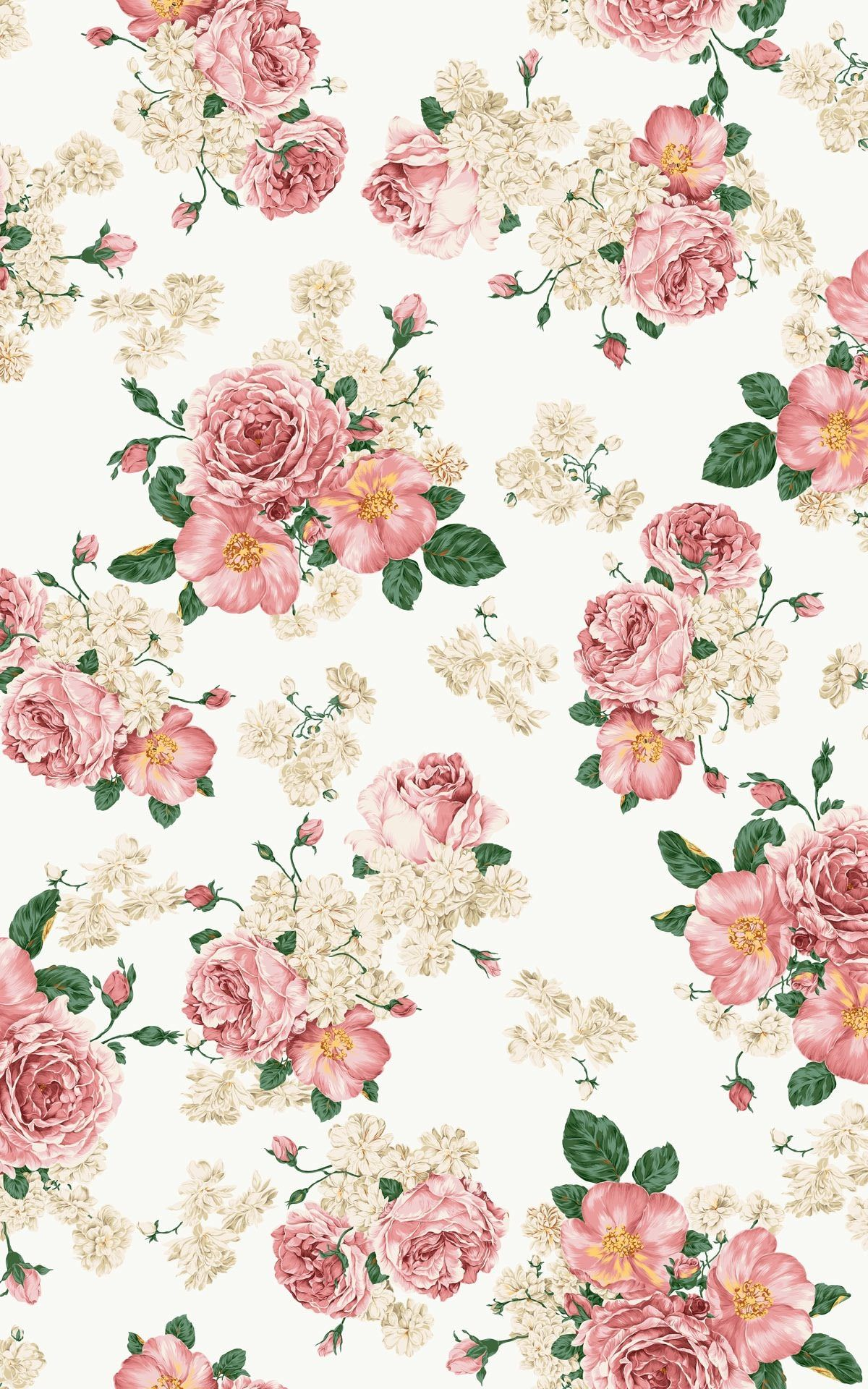 Iphone Se Flower Wallpaper Vintage Flower Background Iphone