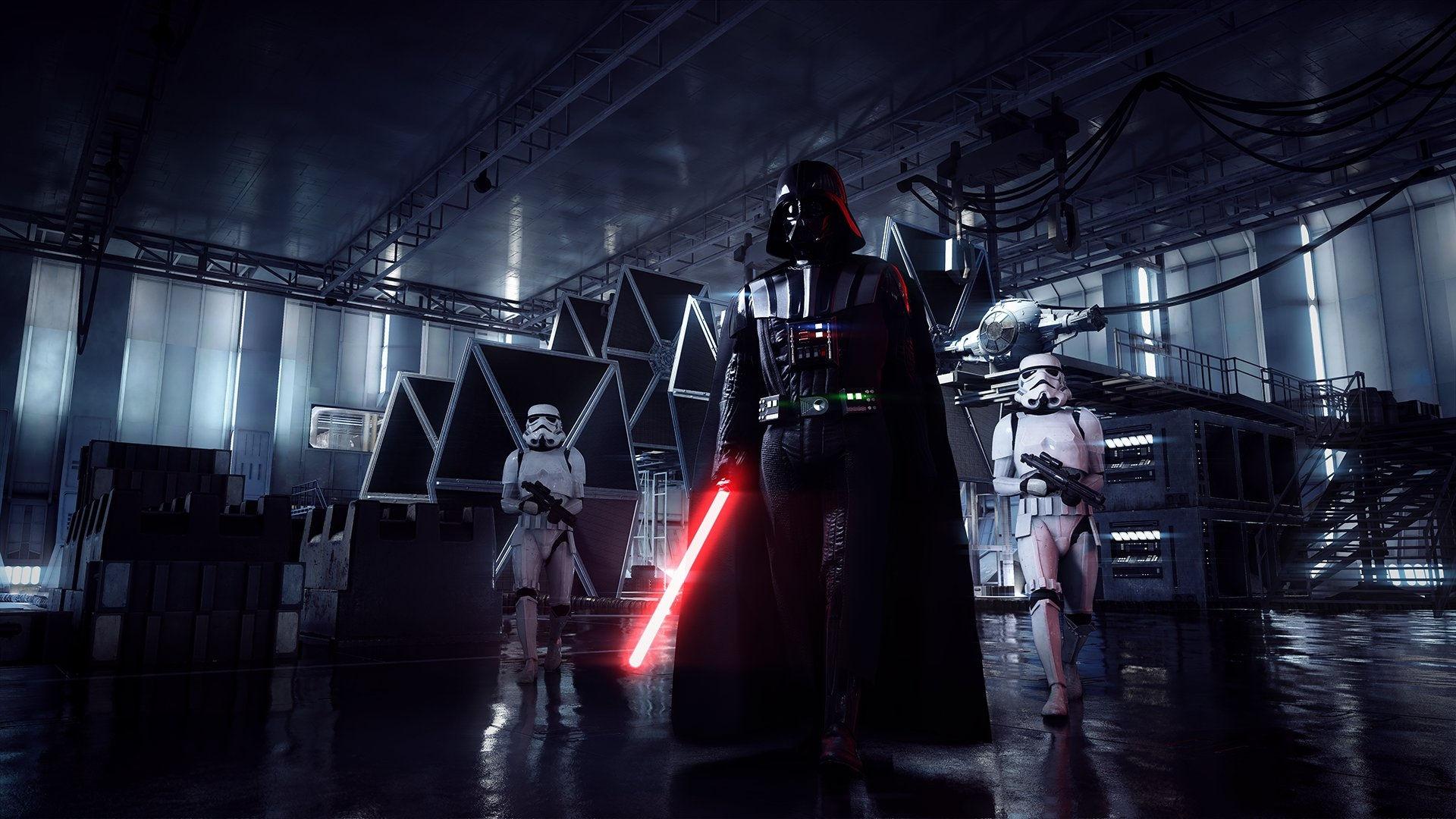 Darth Vader W Hangarze Star Wars Battlefront 2 Darth Vader 71465 Hd Wallpaper Backgrounds Download