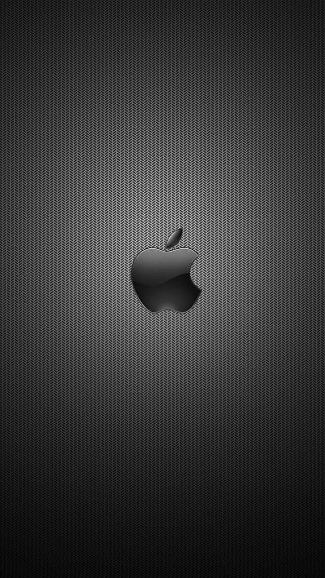 Dark Apple Logo Wallpaper For Iphone X 8 7 6 Free Black Apple