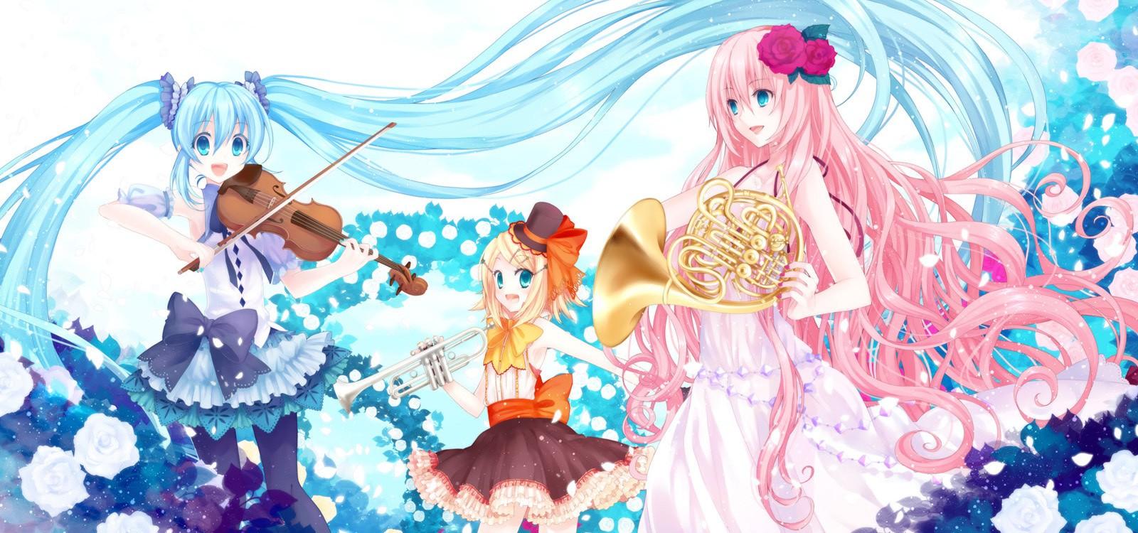 Vocaloid Wallpaper Anime Kawaii 74352 Hd Wallpaper Backgrounds Download