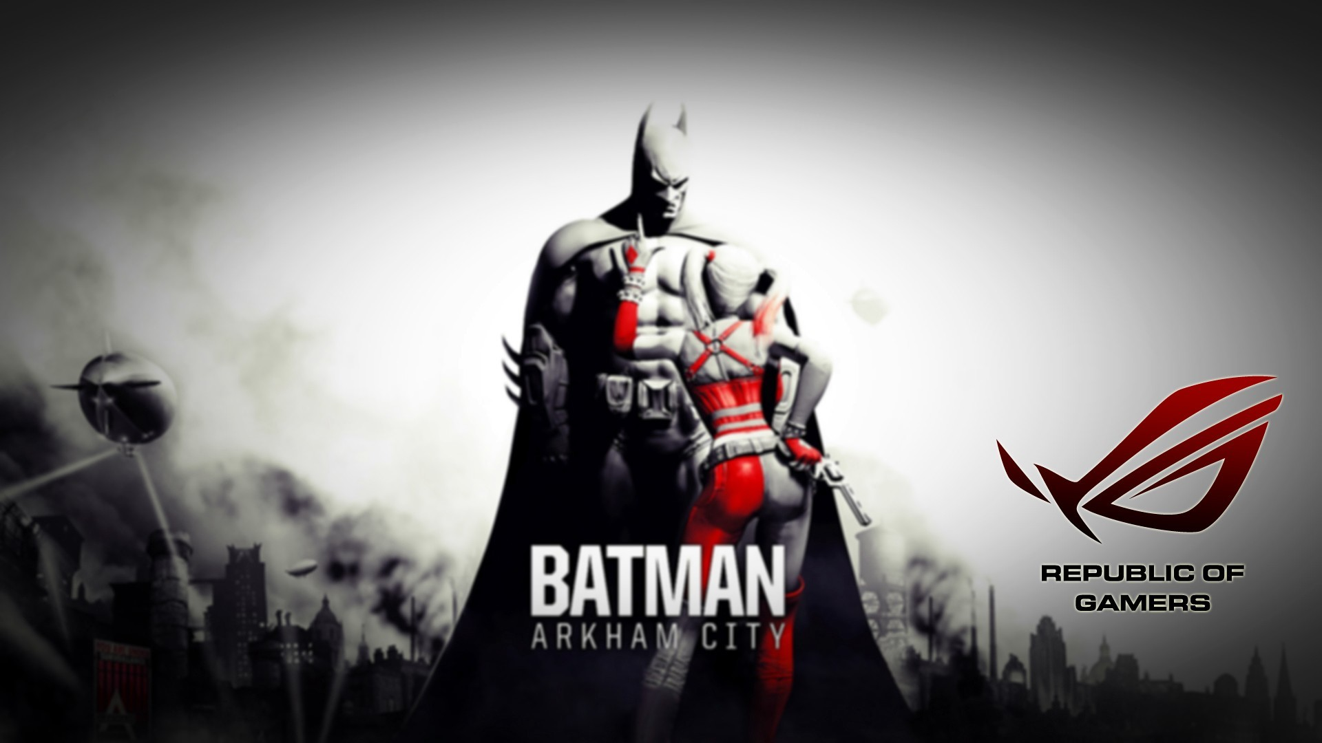 Asus Rog Republic Of Gamers Wallpaper - Batman Arkham City , HD Wallpaper & Backgrounds