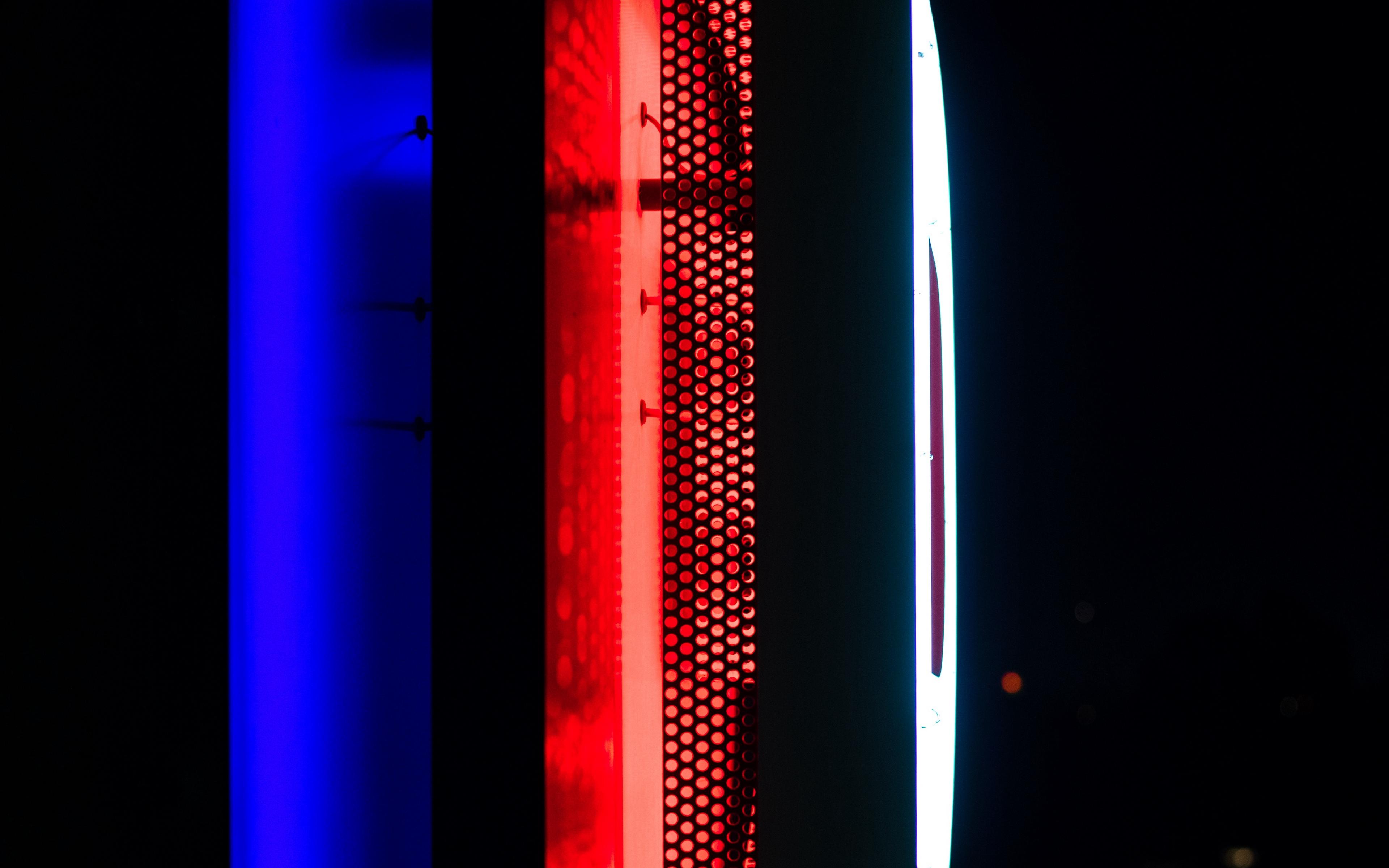 Wallpaper Neon Backlight Wall Dark Blue Red Neon On Red Background 77847 Hd Wallpaper Backgrounds Download