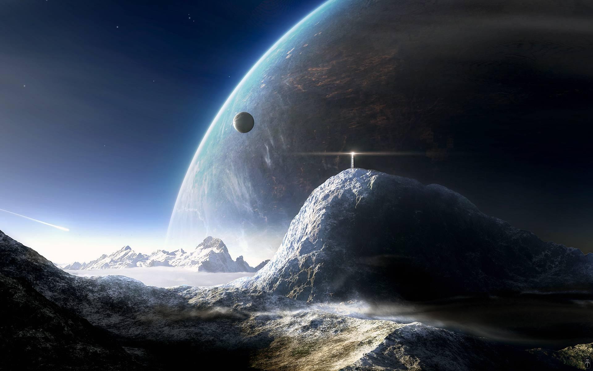 Galaxy Wallpaper Hd - Sci Fi Planet Background , HD Wallpaper & Backgrounds