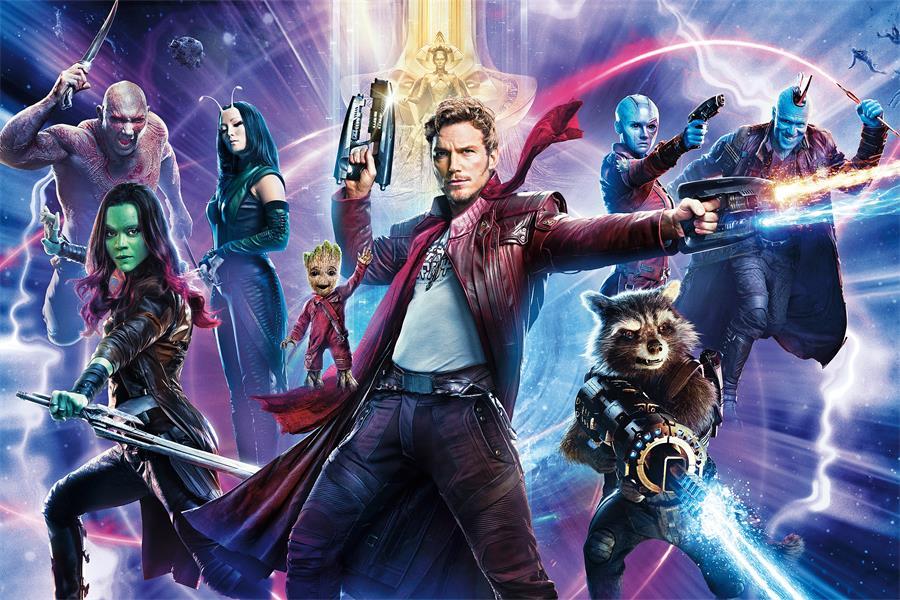 Decoración Personalizada De La Pared De La Lona Estrella-señor - Guardians Of The Galaxy Murals , HD Wallpaper & Backgrounds