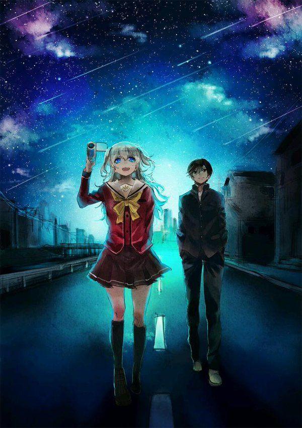 Charlotte Anime Yuu And Nao Tomori Wallpaper Charlotte Anime Wallpaper Iphone 704908 Hd Wallpaper Backgrounds Download