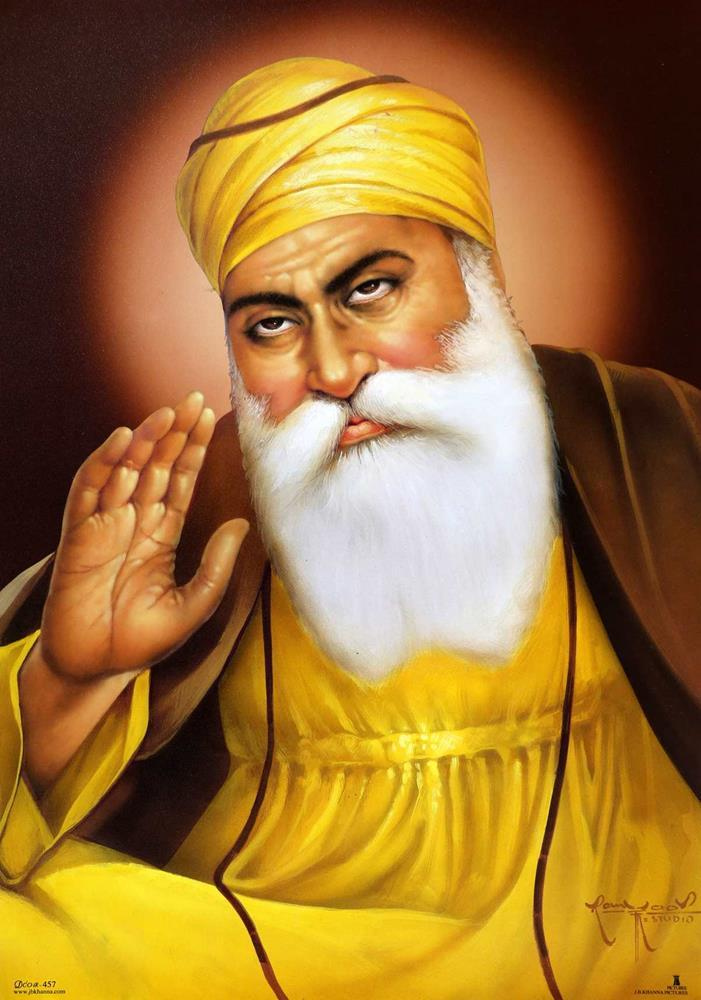 Guru Nanak Dev Ji Hd Wallpaper Download - Happy Guru Nanak Jayanti Wishes , HD Wallpaper & Backgrounds