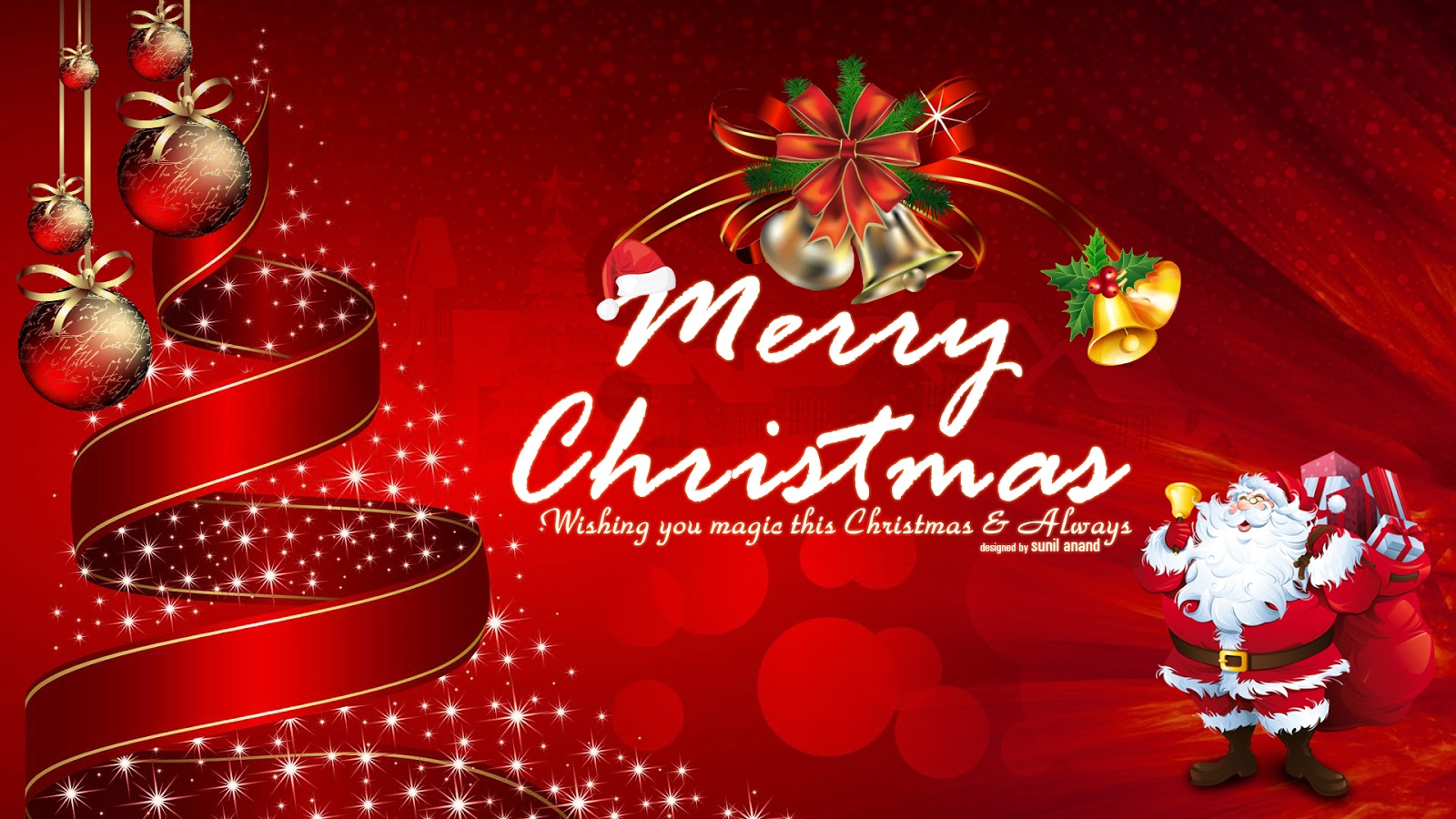 Merry Christmas Wallpaper By Sunil Anand Christmas Card
