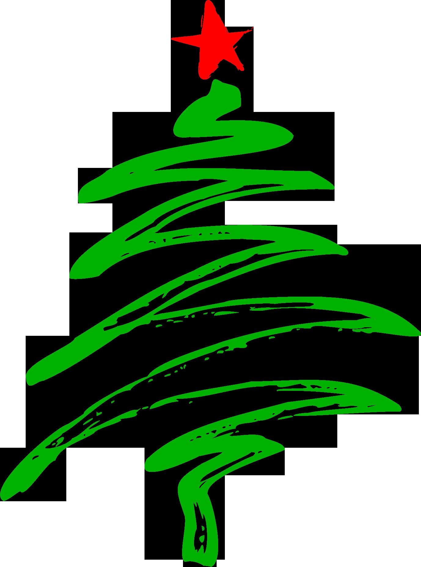 Christmas Tree Vector Line HD Wallpaper