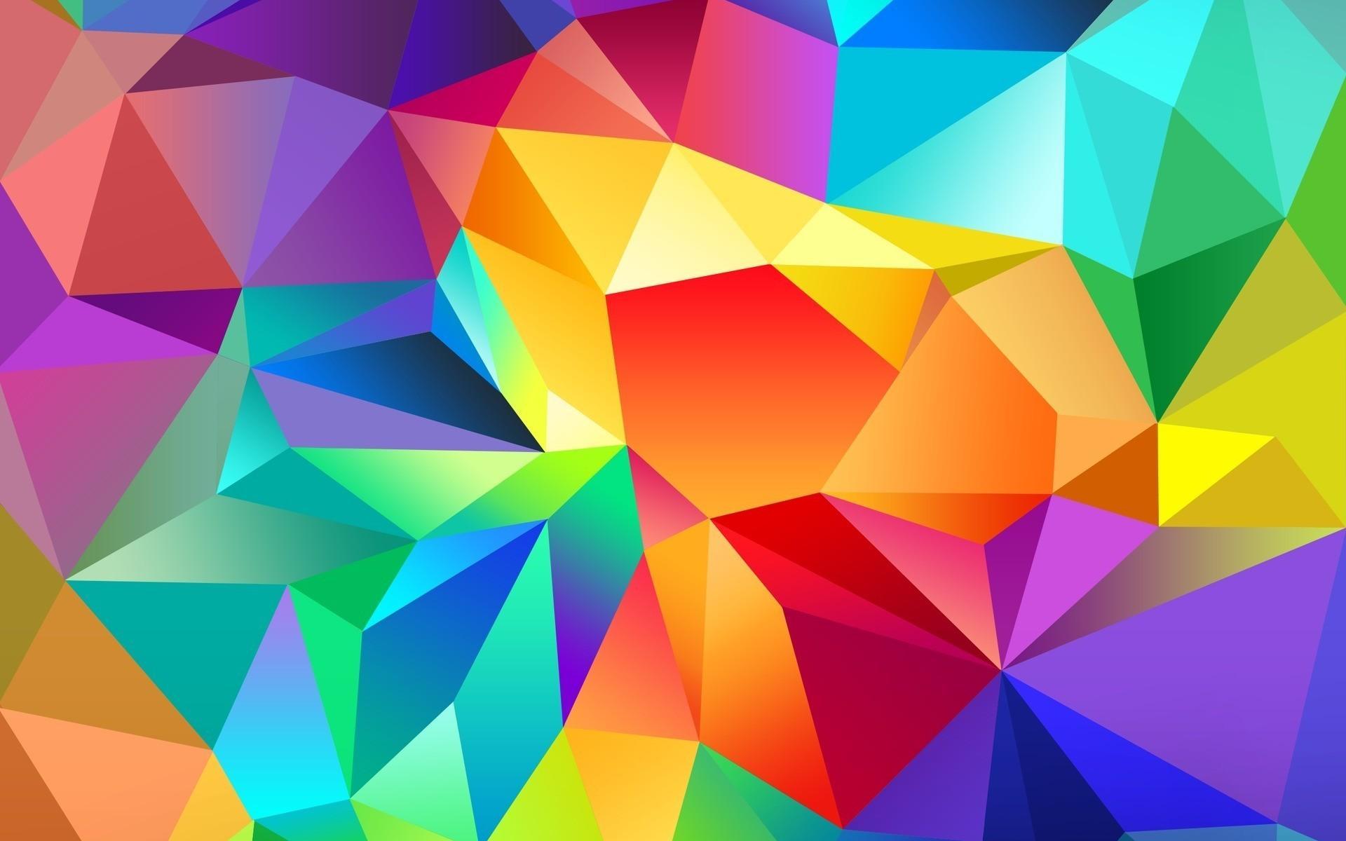 Segitiga Berwarna Warni Polygon Background 731097 Hd Wallpaper Backgrounds Download