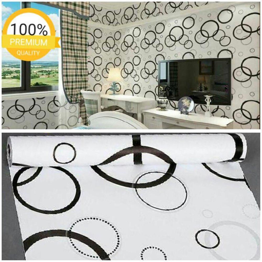 Cek Harga Baru Wallpaper Sticker Dinding Spirkle Hitam