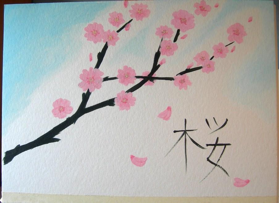 Lukisan Bunga Sakura Yang Mudah Ditiru Cara Mewarnai Bunga Sakura 733460 Hd Wallpaper Backgrounds Download