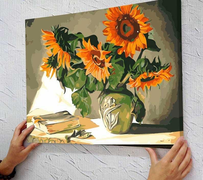 Contoh Gambar Lukisan Bunga Matahari Natyurmorty Maslom 733462