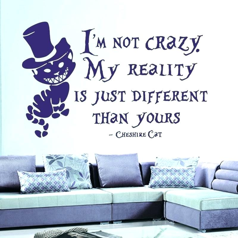 In Wonderland Wall Sticker Cat Quotes Vinyl Decals - Quotes For Room Wall , HD Wallpaper & Backgrounds
