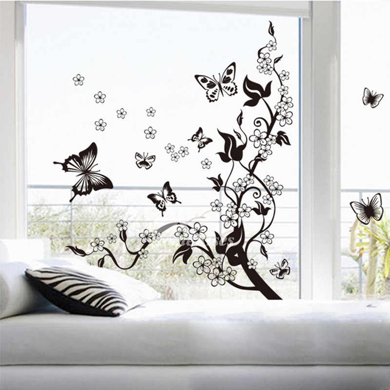 Super Cool Decorative Wall Stickers For Living Room - Butterfly Decoration On Wall , HD Wallpaper & Backgrounds