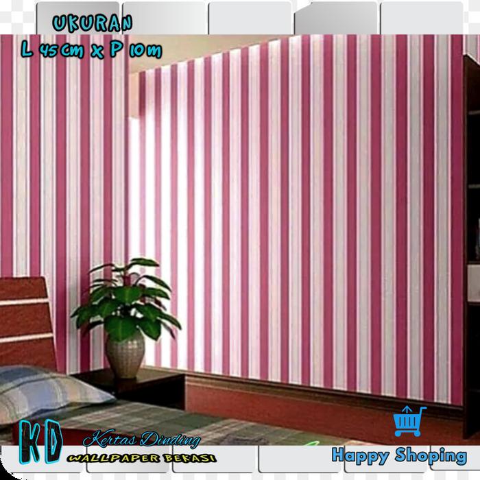 Walpaper Dinding Garis Merah Dinding Warna Pink Putih