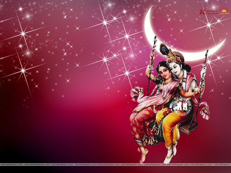 Radha Name Wallpaper - Hindu God Shri Krishna And Radha , HD Wallpaper & Backgrounds