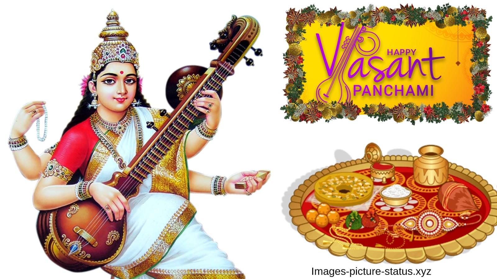 Vasant Panchami 20199 Wishes Images, Basant Panchami, - Maa Saraswati Png Hd , HD Wallpaper & Backgrounds
