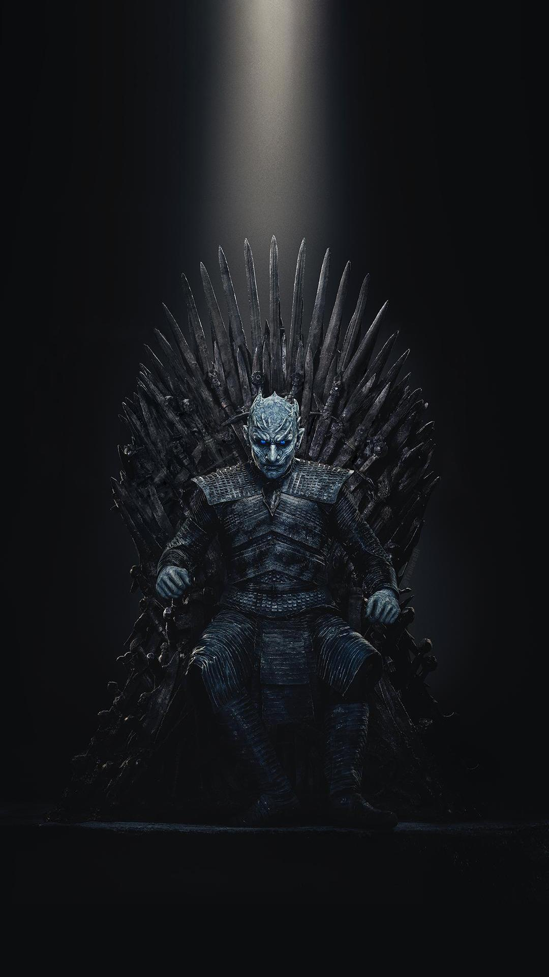 Spoilers[spoilers] Night King Iron Throne Wallpaper - Night King Sits On Iron Throne , HD Wallpaper & Backgrounds