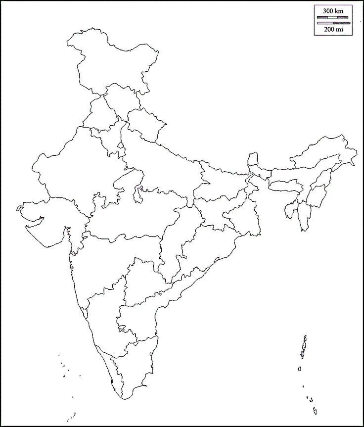 Bharat Ka Naksha - India Map States Blank (#767884) - HD ...