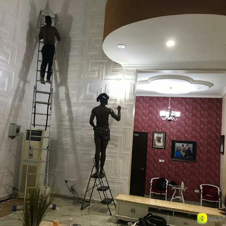 77 772664 3d wallpaper tv unit design and house painter