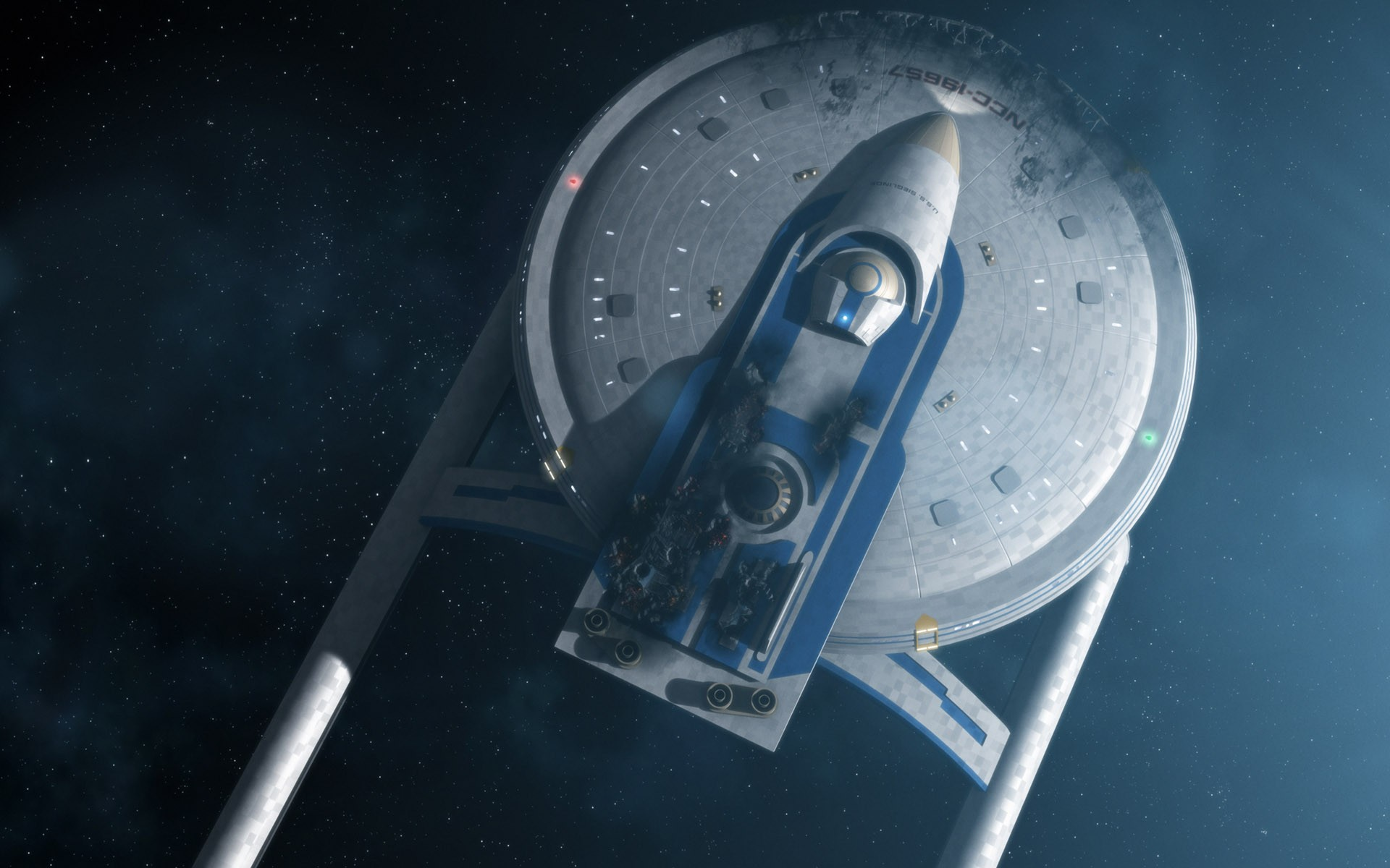 Star Trek Battle Damaged U - Star Trek Futuristic Sci Fi Spaceships , HD Wallpaper & Backgrounds