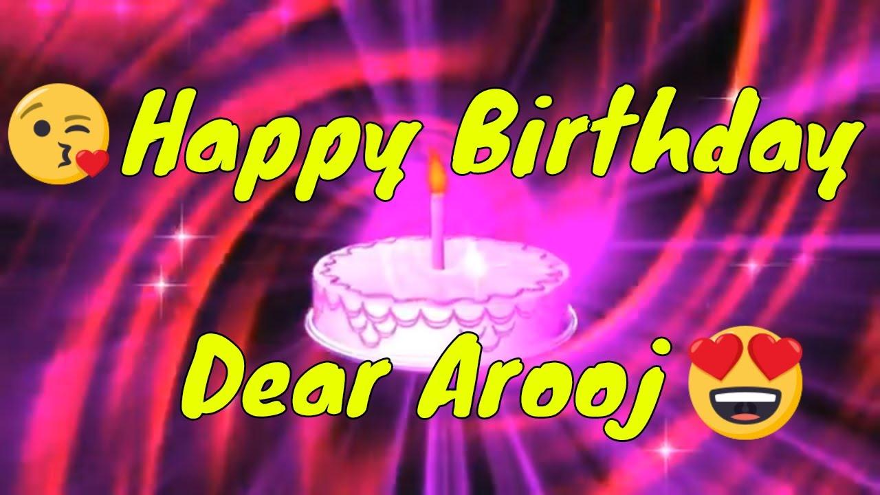 Happy Birthday Arooj Whatsapp Status Happy Birthday Saima