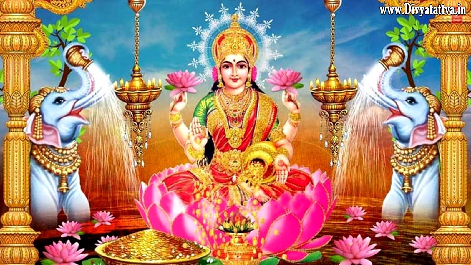 Laxmi Devi Wallpaper Laxmi Mantra 779461 Hd Wallpaper Backgrounds Download
