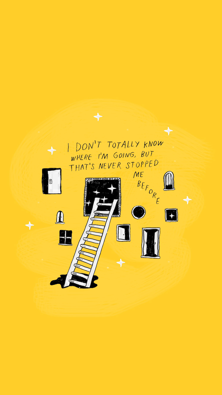 Pinterest // @maddimccomas Illustrated Quote - Yellow Quote , HD Wallpaper & Backgrounds