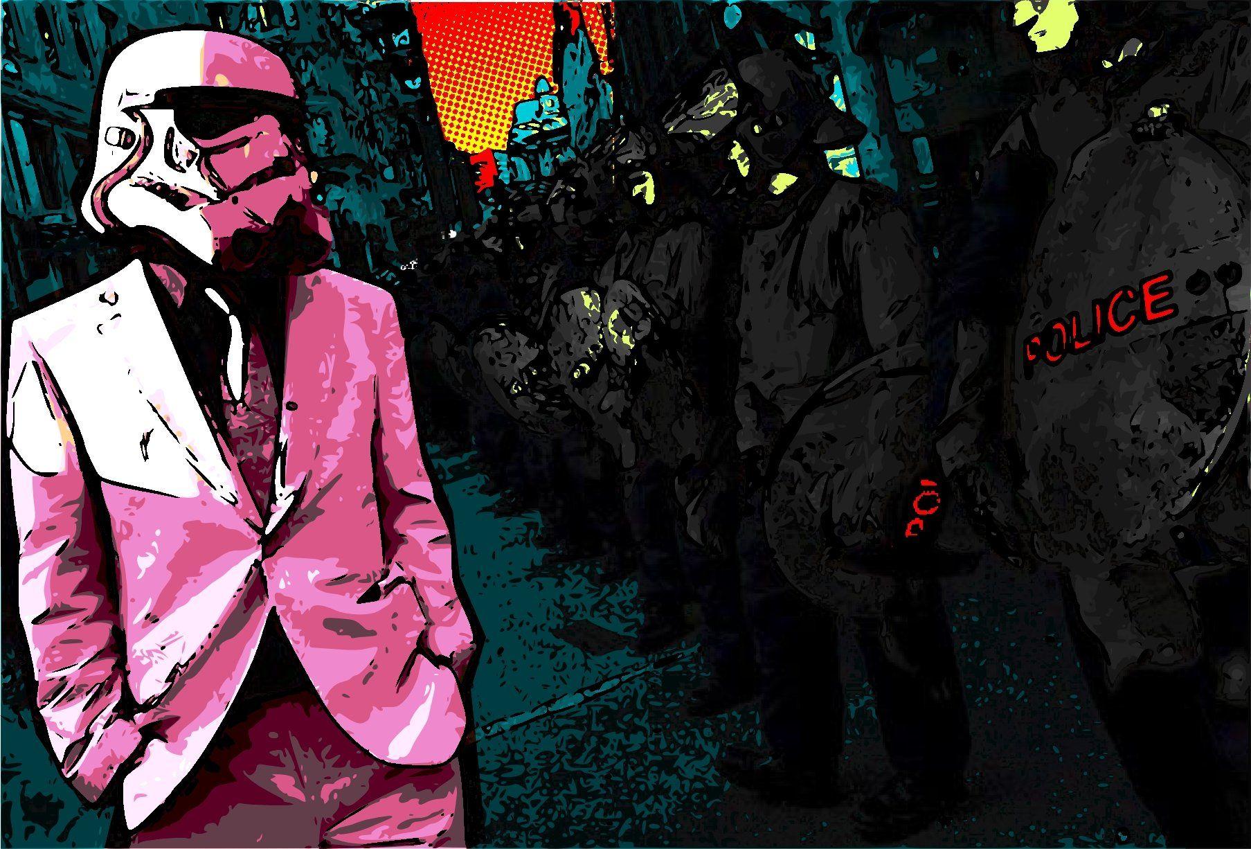 Cm Punk Wallpaper Wwe Champion Stormtrooper Wearing A Suit