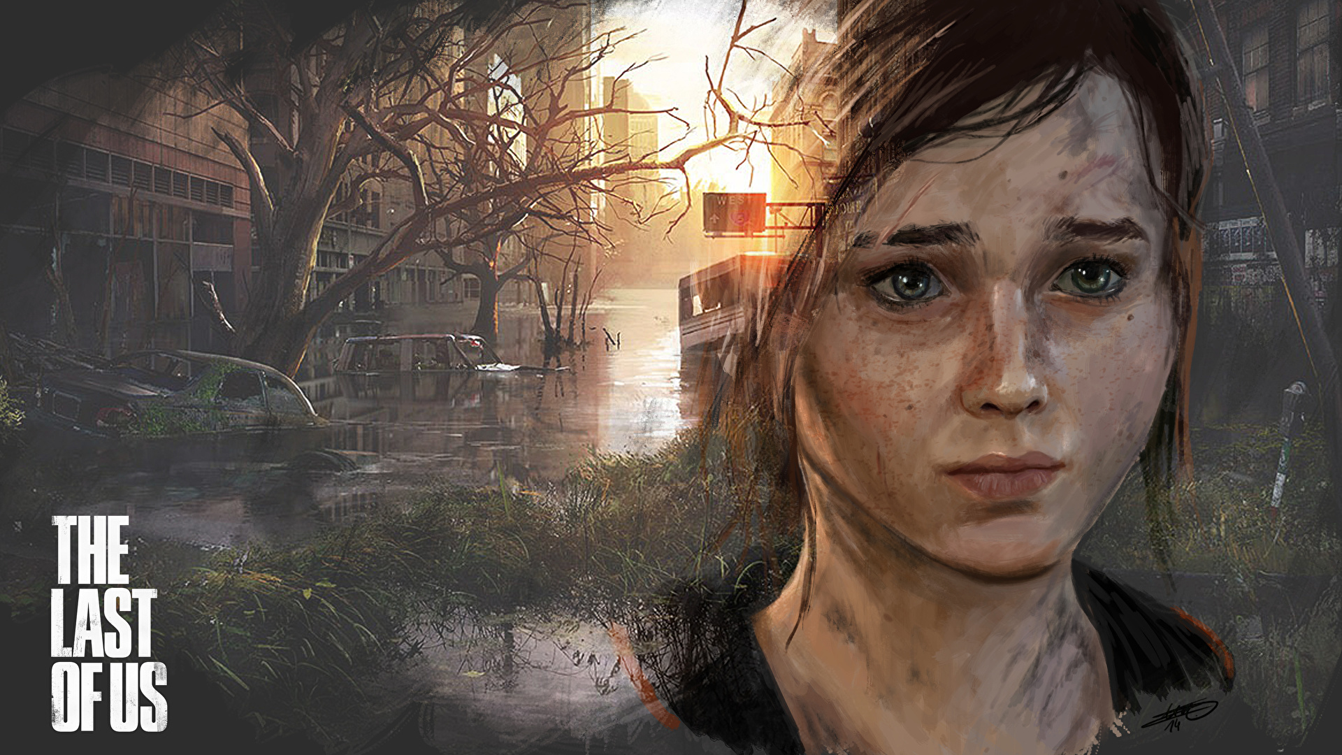 Pictures The Last Of Us Brown Haired Ellie Games Staring