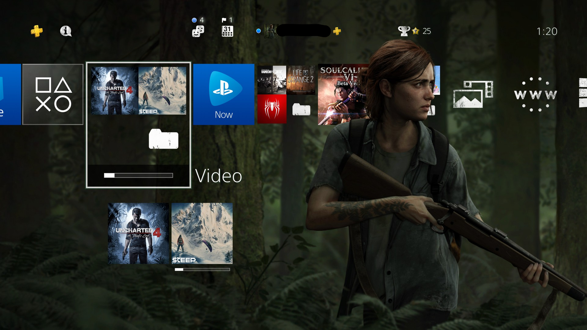 [image] The Last Of Us Part Ii Ellie Theme Overlaps - Last Of Us 2 Theme , HD Wallpaper & Backgrounds