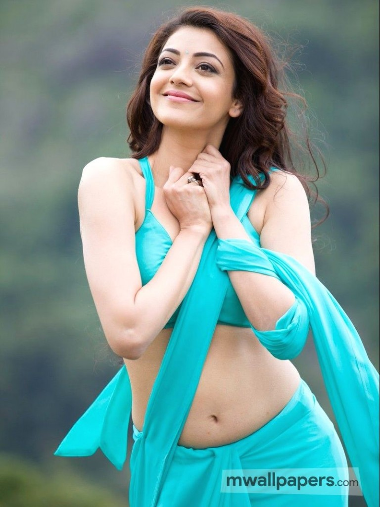 Hot - Kajal Agarwal Hot In Saree , HD Wallpaper & Backgrounds