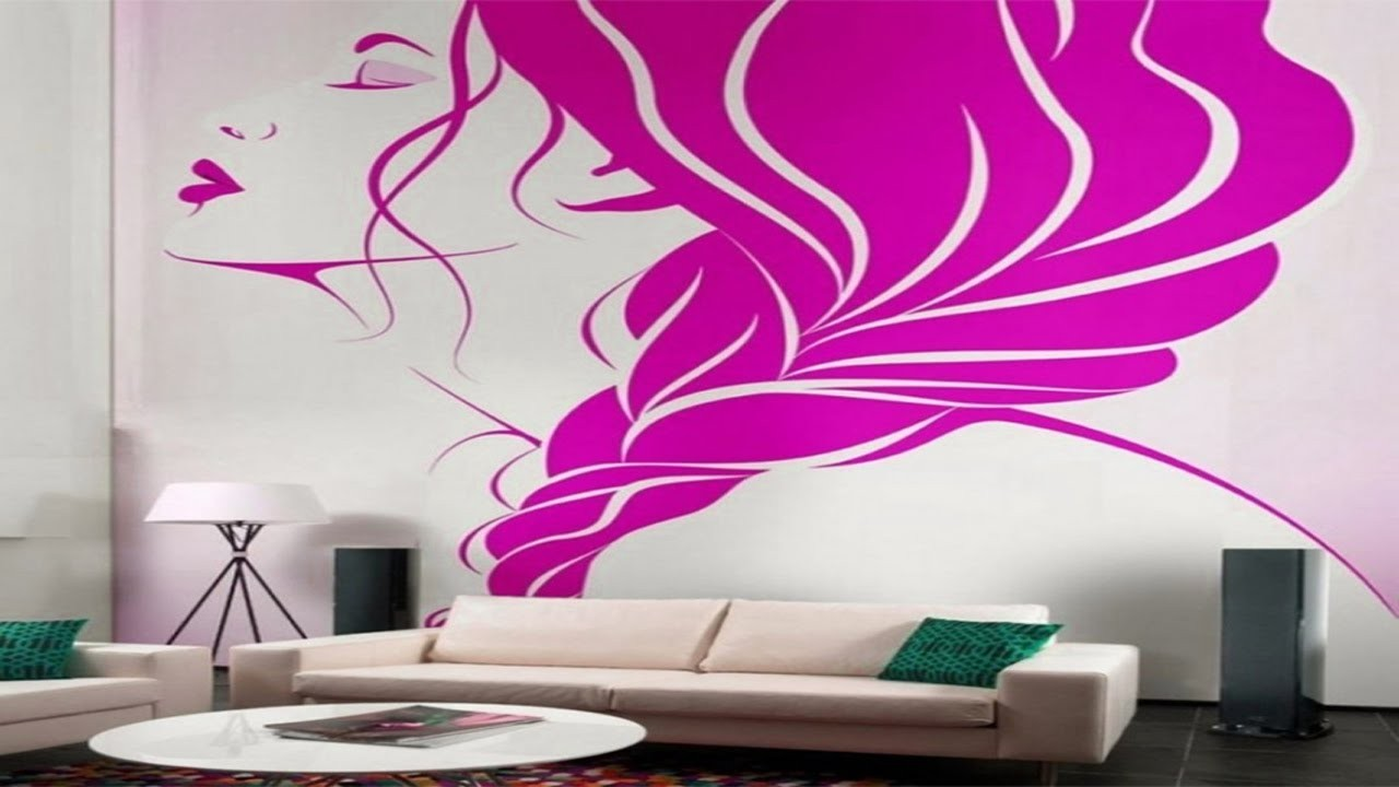 Wall Painting Building Creative Ideas For Living Room - Wall Painting For Room , HD Wallpaper & Backgrounds