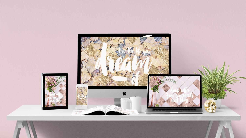 November Rose Gold, Gold And Copper Metallic Iphone - Rose Gold Pink Desktop , HD Wallpaper & Backgrounds