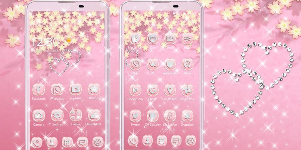 Rose Gold Diamond Theme , HD Wallpaper & Backgrounds